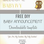 Luxury Birth Announcement Template Free Printable | Best Of Template   Free Printable Baby Announcement Templates