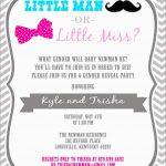 Luxury Free Printable Gender Reveal Invitation Templates | Best Of   Free Printable Gender Reveal Templates