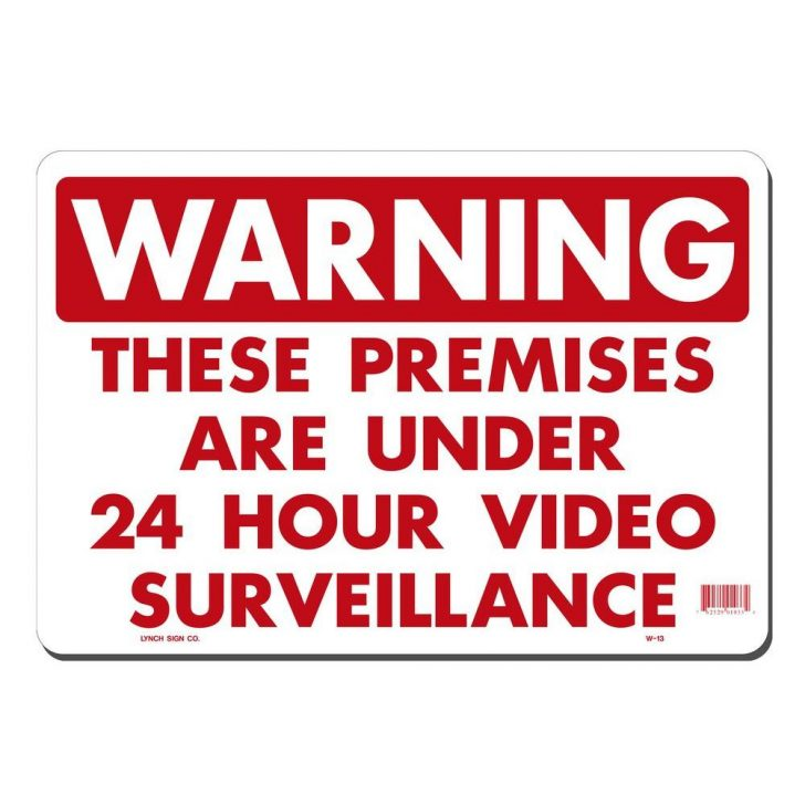 Printable Video Surveillance Signs Free