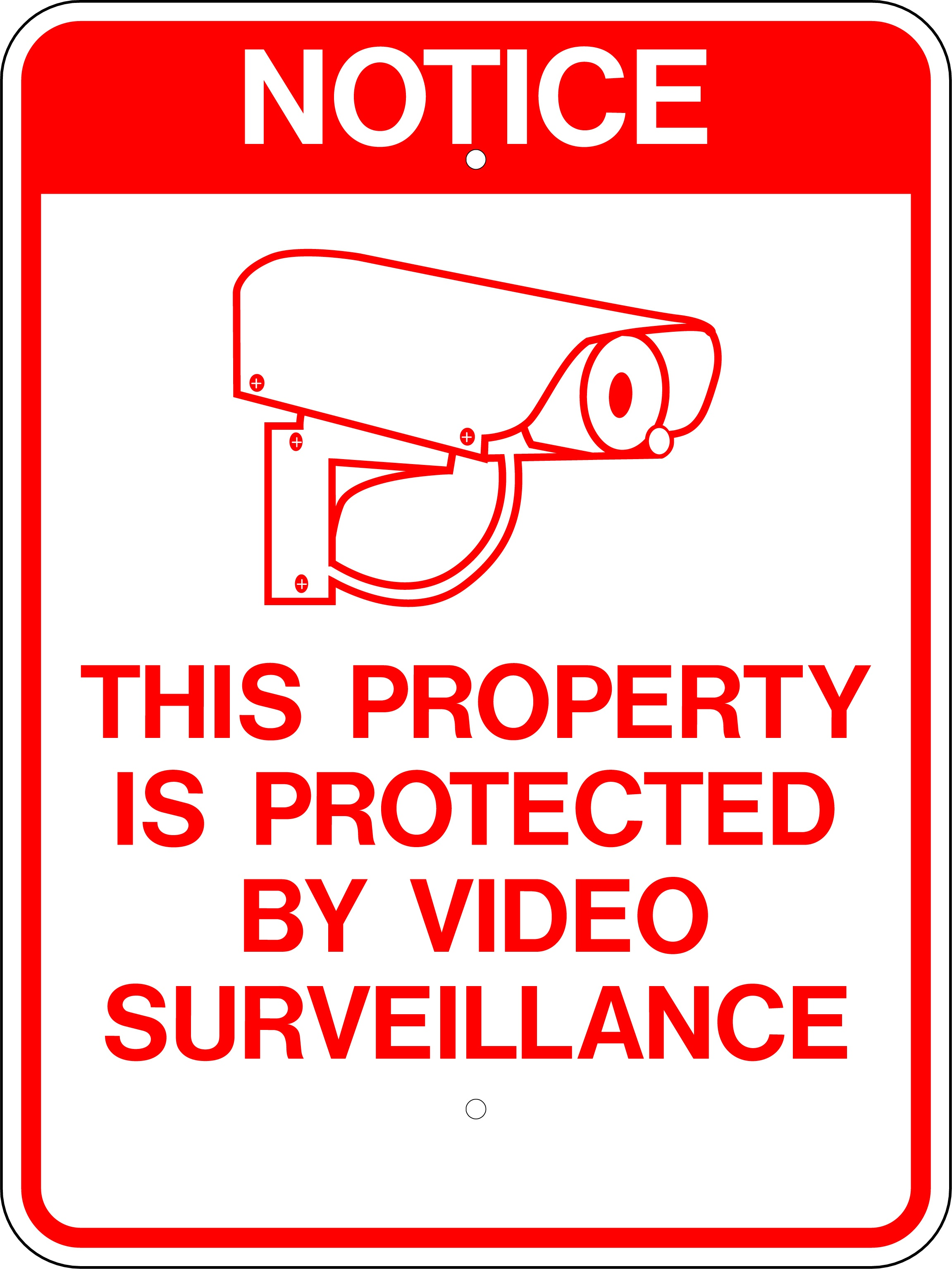 Lynch Sign 14 In. X 10 In. 24 Hour Video Surveillance Sign Printed - Printable Video Surveillance Signs Free
