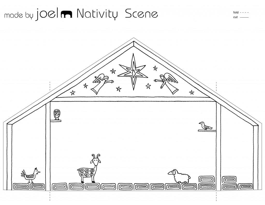 Madejoel » Paper City Nativity Scene (Joyfully Expanded!) - Free Printable Nativity Scene Pictures