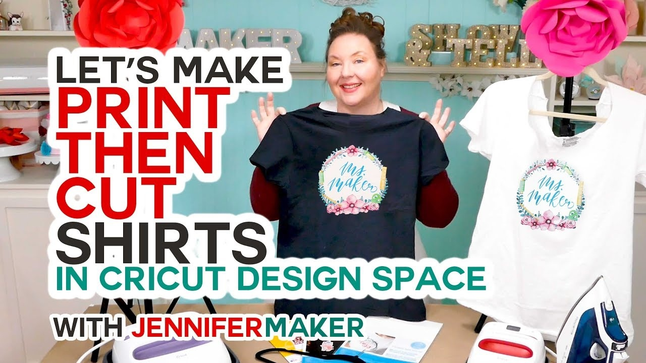 Make Print Then Cut T-Shirts With Your Cricut The Right Way! - Youtube - Free Printable Iron On Transfers For T Shirts