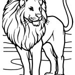 Male African Lion Coloring Page   Free Printable Coloring Pages   Free Printable Picture Of A Lion
