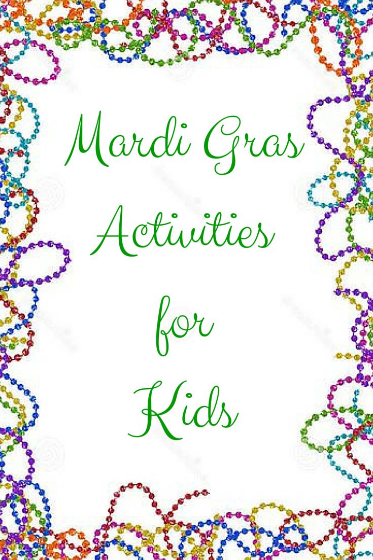Mardi Gras Activities For Kids - Free Printable Mardi Gras Games