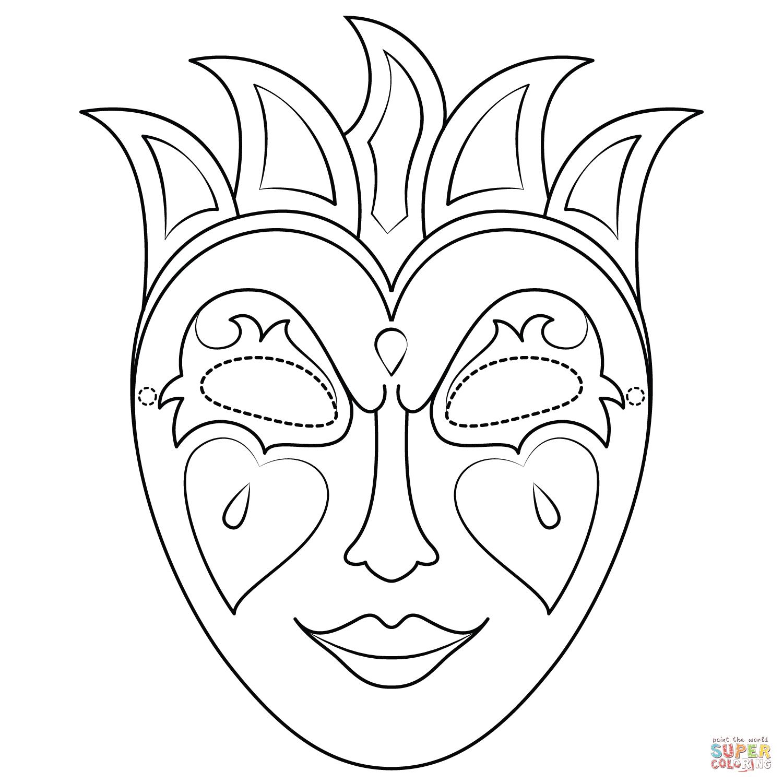 Mardi Gras Mask Coloring Page | Free Printable Coloring Pages - Free Printable Mardi Gras Masks