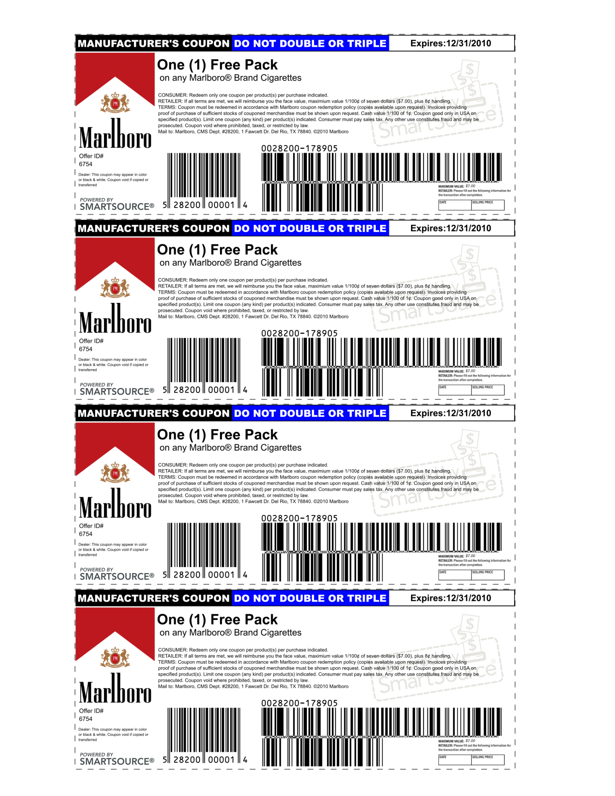 Marlboro Coupons Printable 2013 | Is Using A Possibly Fake Coupon - Free Printable Cigarette Coupons