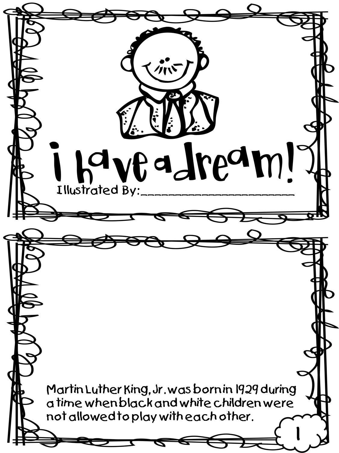 Martin Luther King Jr Coloring Pages And Worksheets - Best Coloring - Free Printable Martin Luther King Jr Worksheets For Kindergarten
