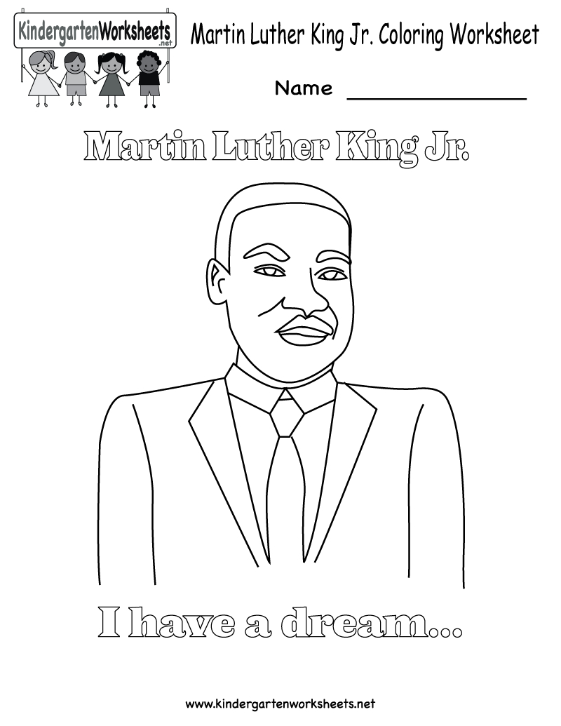 Martin Luther King Jr Coloring Pages | Martin Luther King Coloring - Free Printable Martin Luther King Jr Worksheets