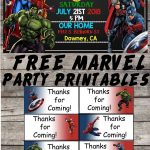 Marvel | Avengers | Birthday Party Printable Files | Invitations   Avengers Printable Invitations Free