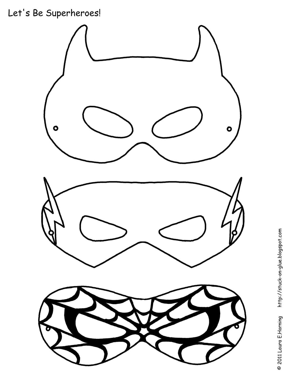 Mask Printable | Free Printable Superhero Mask Template | Masks - Free Printable Masks