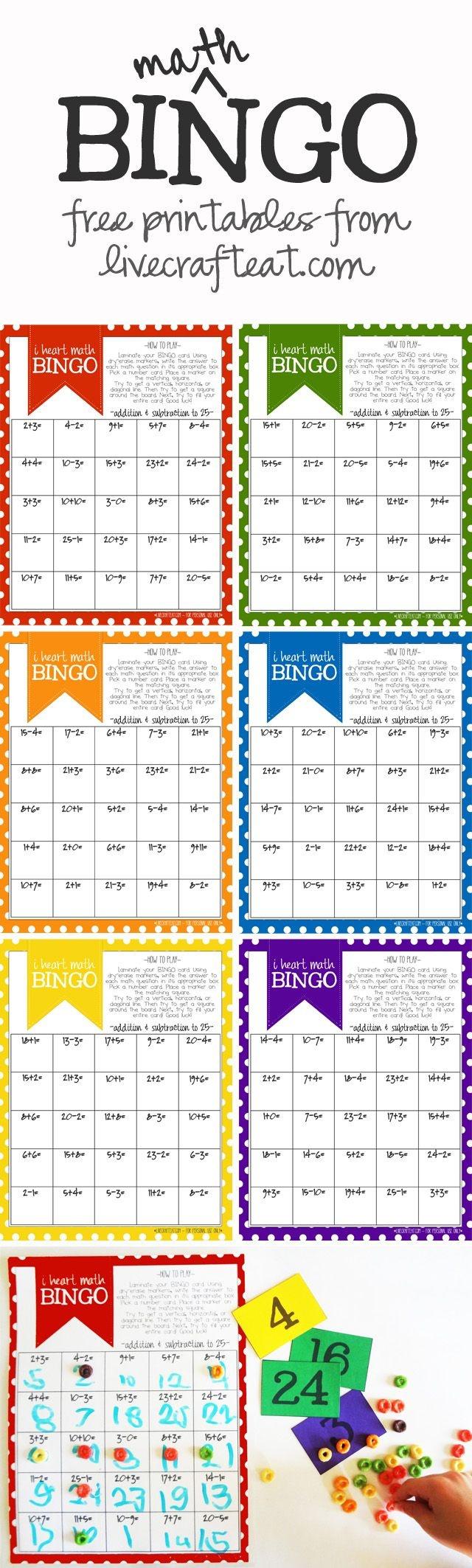 Math Bingo Printable For Kids - Free | Math Activities | Math Bingo - Math Bingo Free Printable