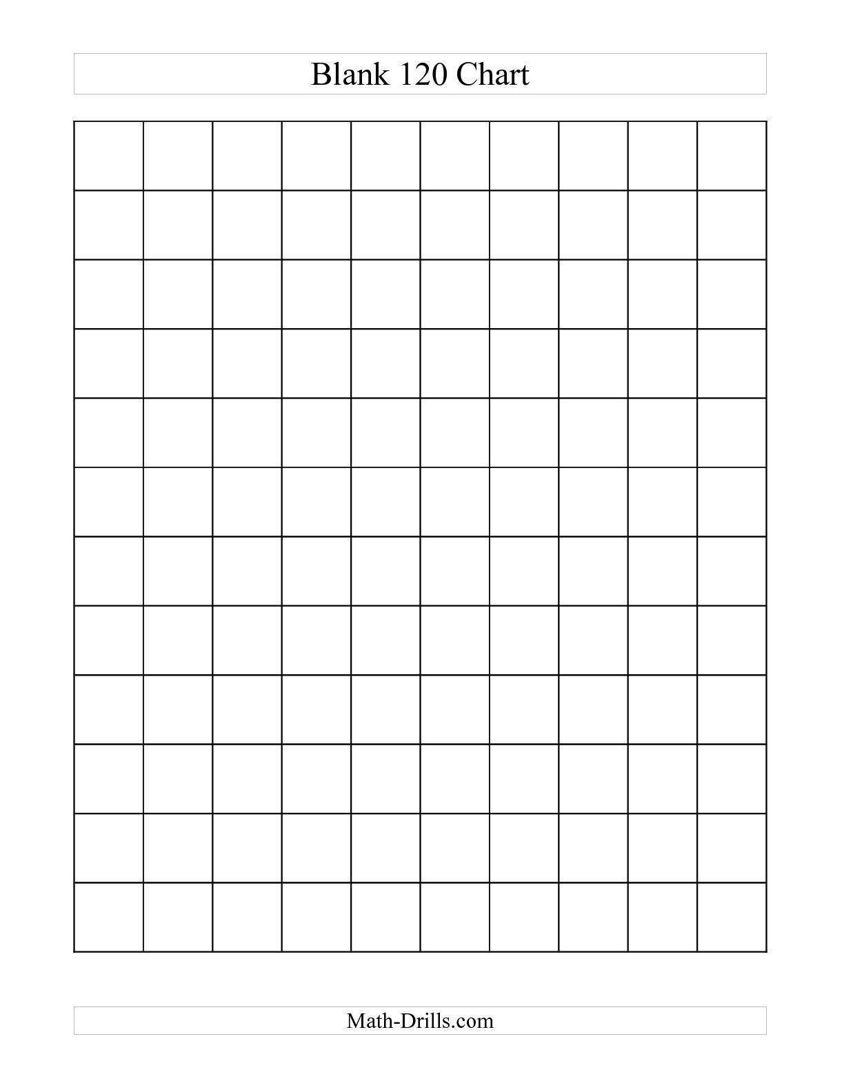 Math : Blank Hundreds Chart Blank Hundreds Chart Grid. Blank - Free Printable Hundreds Chart