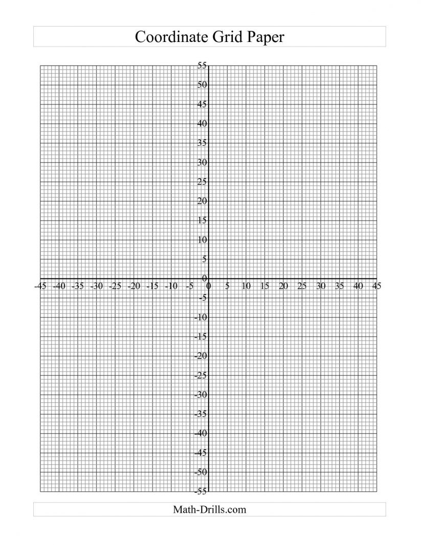 Math : Graph Paper With Coordinate Plane Interactivate Introduction - Free Printable Graph Paper With Numbers