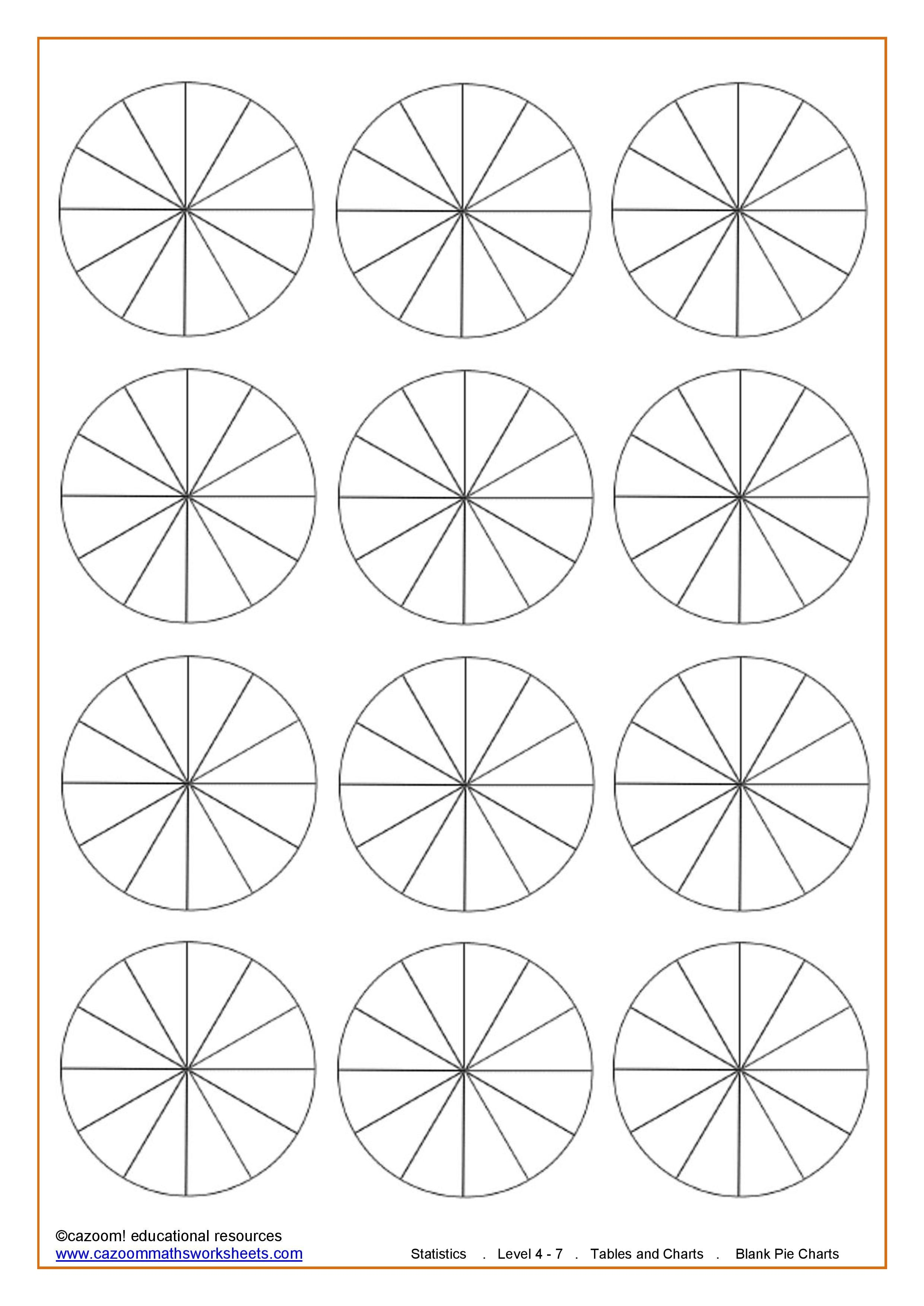 Maths Teaching Resources | Charts | Math Lessons, Teaching Resources - Free Printable Pie Chart