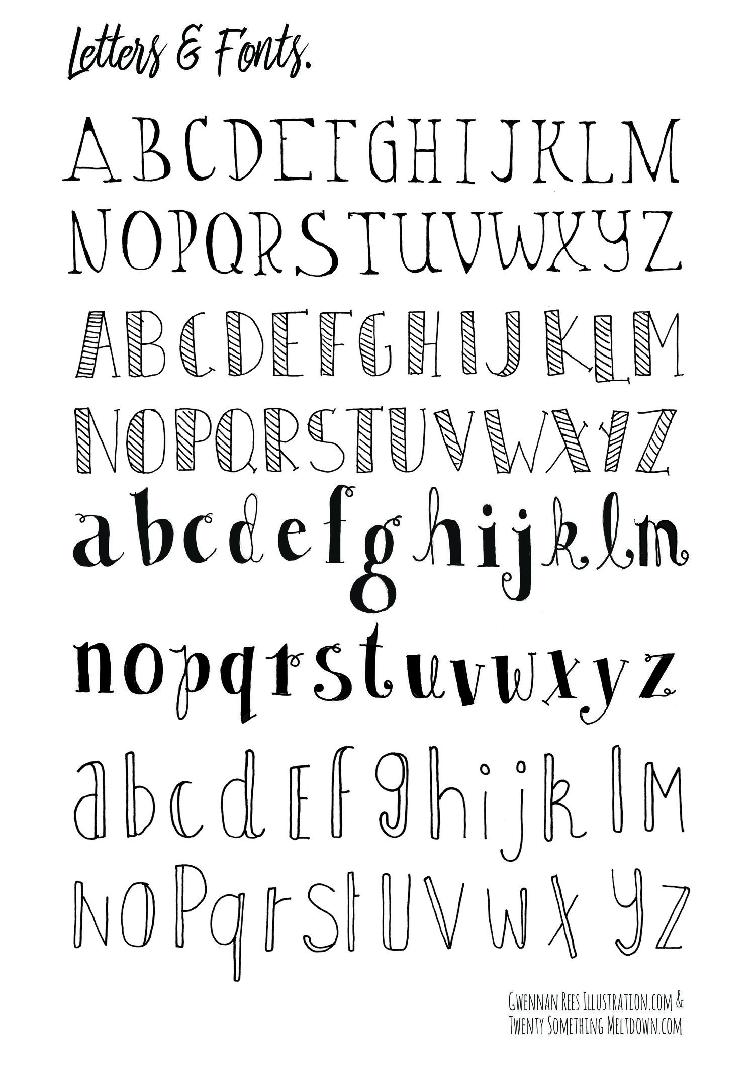 May 14 ***free*** Bullet Journal Printables.   Tekenen - Bullet - Free Printable Fonts No Download