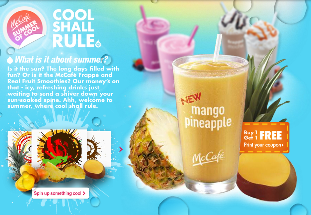 Mcdonald's Bogo Printable Coupon On Frappes Or Smoothies - Al - Free Mcdonalds Smoothie Printable Coupon