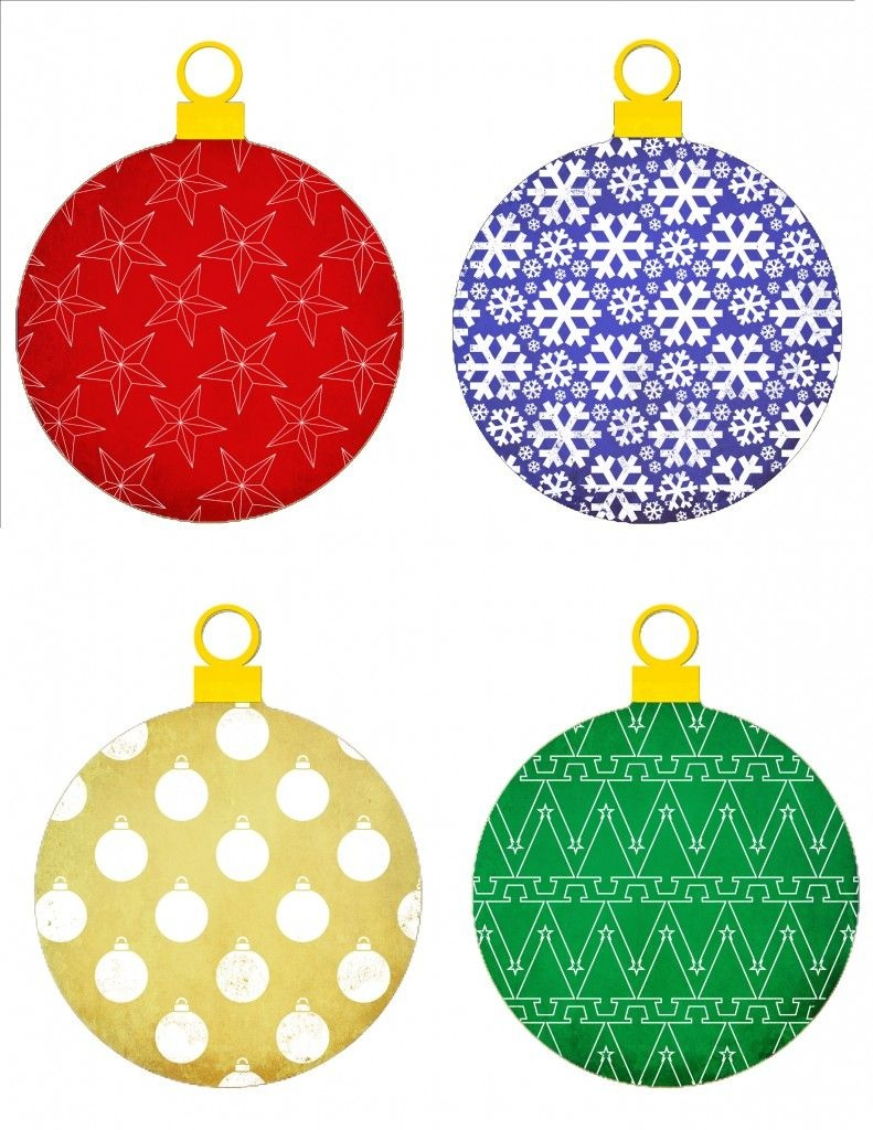 Measuredthe Heart: Printable Christmas Ornaments | Skin Care - Free Printable Christmas Ornament Patterns