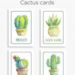 Members | Free Printables | Free Thank You Cards, Birthday Card   Free Printable Cactus
