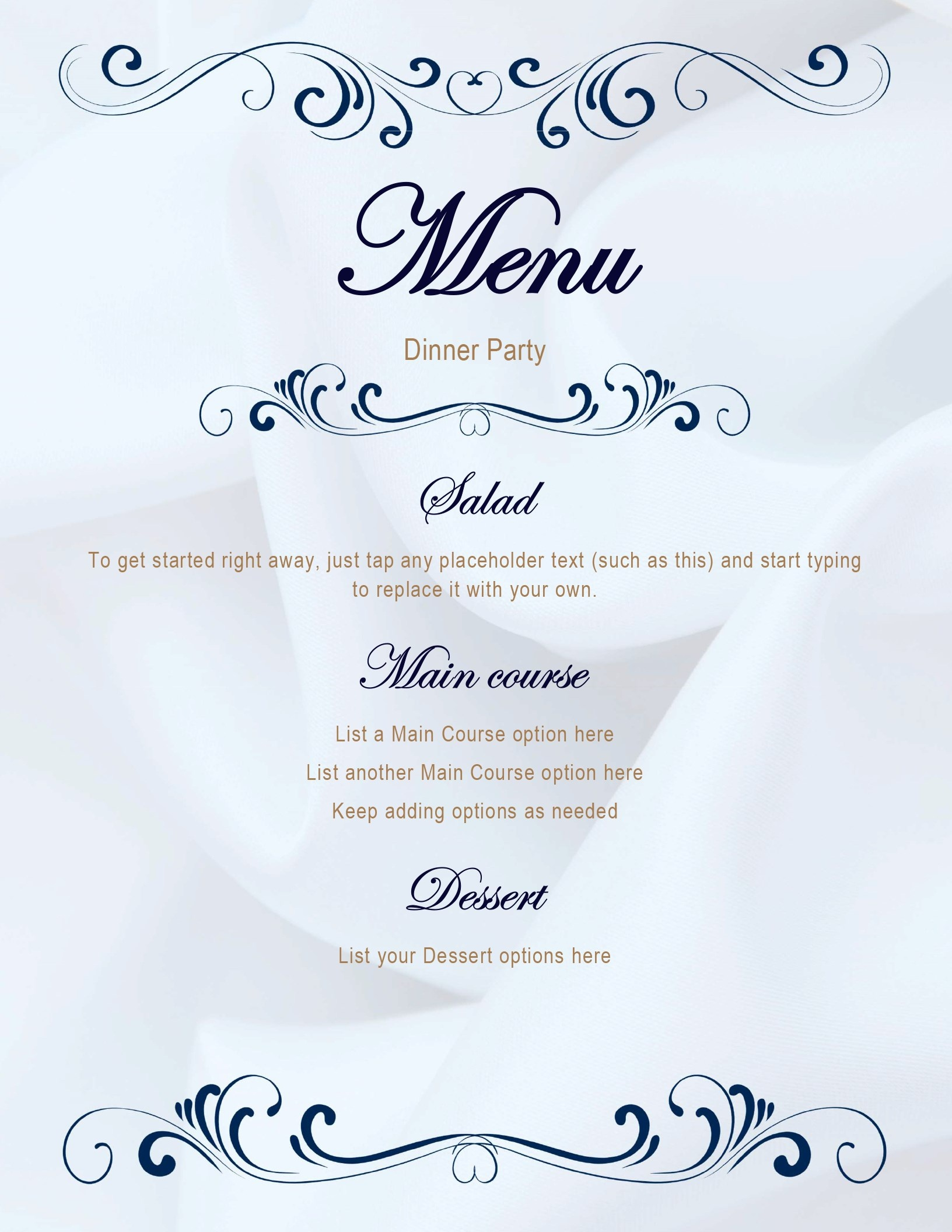 Menus - Office - Free Printable Menu Templates Word