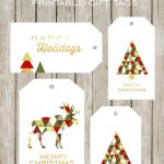 Merry And Bright Printable Gift Tags   Free Printable Happy Holidays Gift Tags