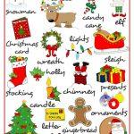 Merry Christmas   Pictionary Worksheet   Free Esl Printable   Free Printable Christmas Pictionary Words