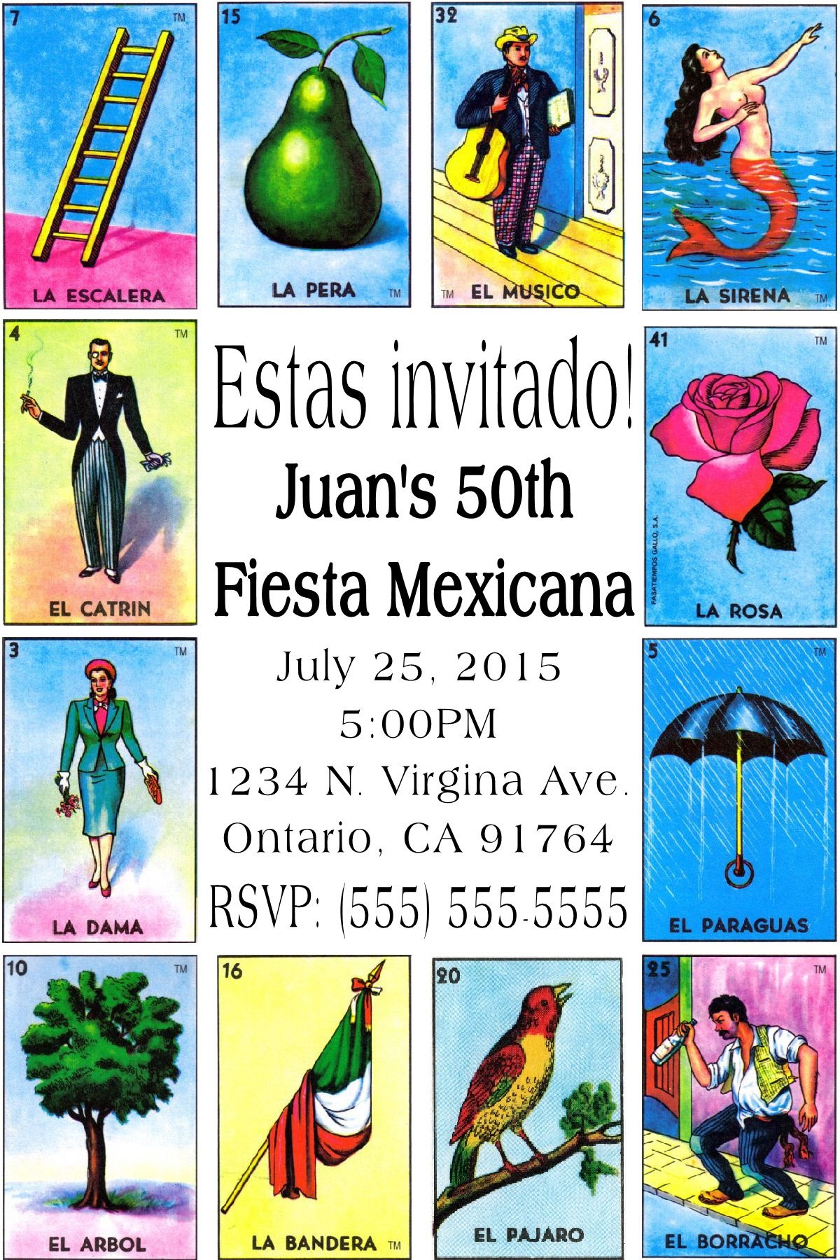 Mexican Card Game Loteria Invitation-To Place Orders Or Follow Me On - Free Printable Loteria Game