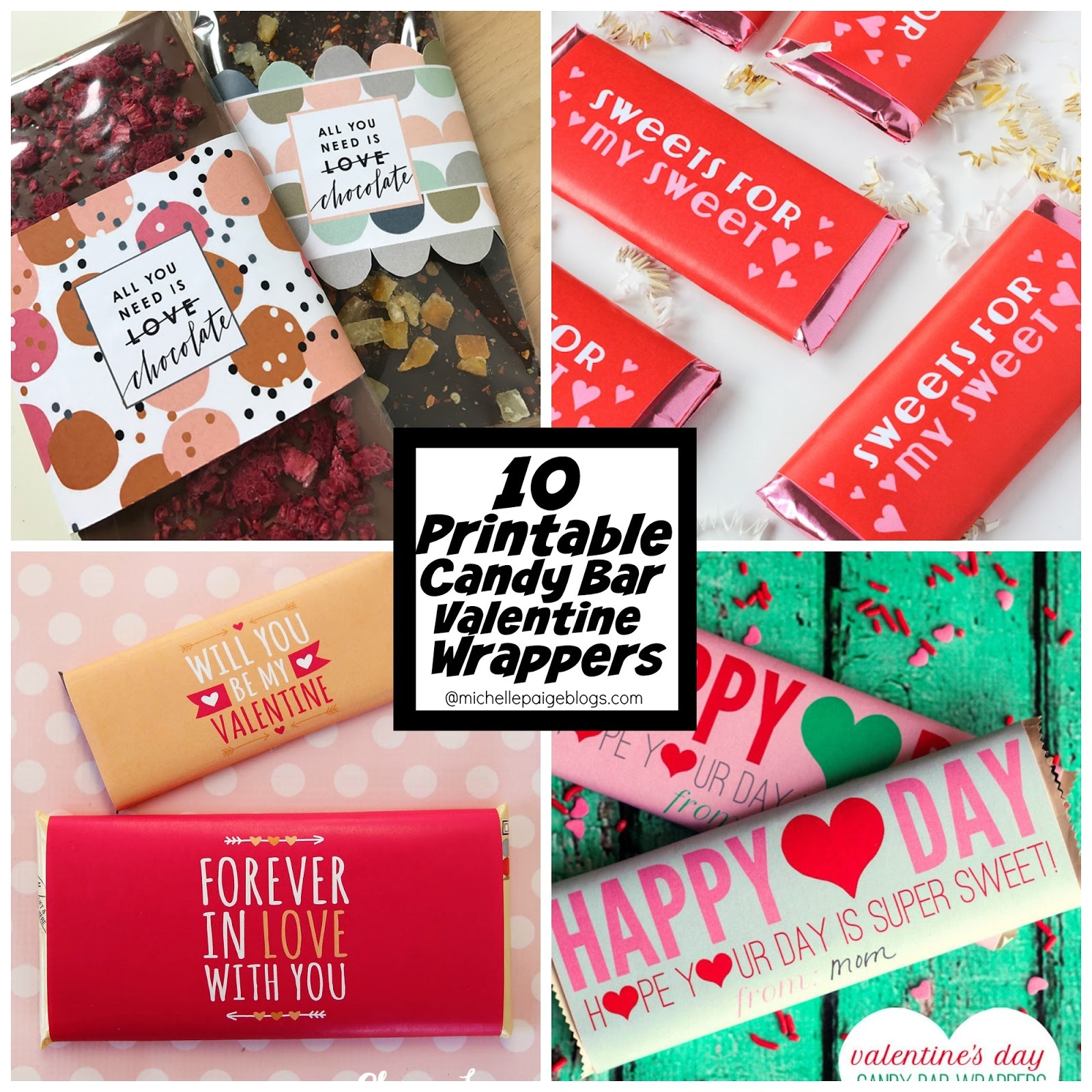 Michelle Paige Blogs: 10 Free Printable Candy Bar Wrapper Valentines - Free Printable Candy Bar Wrappers