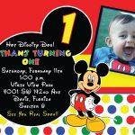 Mickey Mouse 1St Birthday Invitations Ideas | Free Printable   Free Printable Mickey Mouse 1St Birthday Invitations