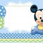 Mickey Mouse 1St Birthday | Tiago's Birthday | 1St Birthday   Free Printable Mickey Mouse 1St Birthday Invitations