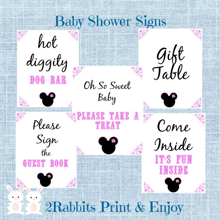 Free Printable Mickey Mouse Baby Shower Games
