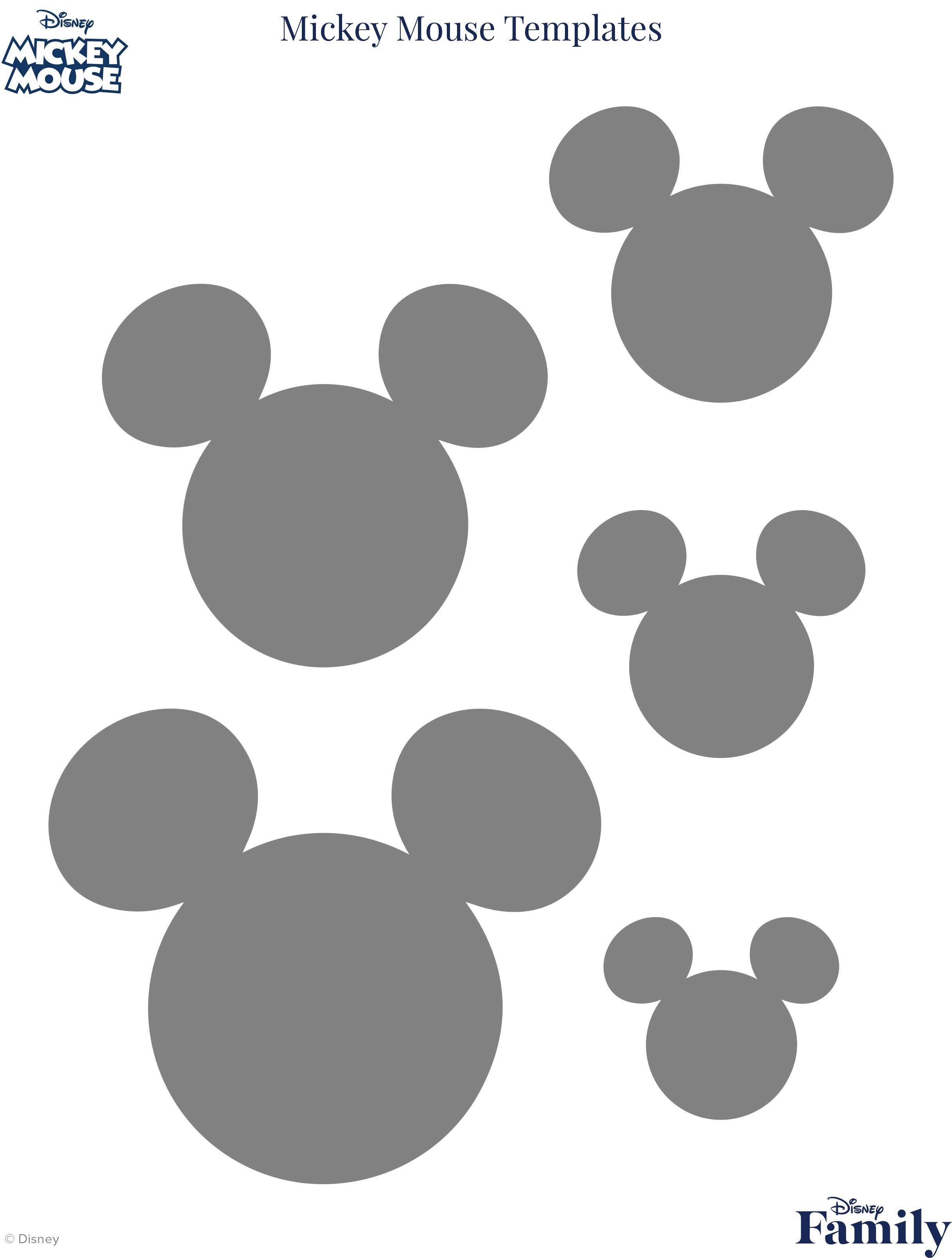 Mickey Mouse Template | Disney Family - Free Mickey Mouse Printable Templates