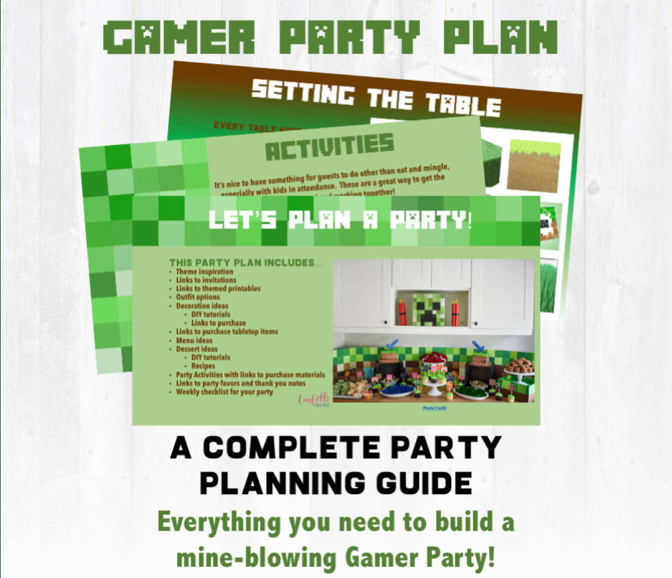 Minecraft Party Planning Guide And Checklist: Let's Build Your Party! - Free Printable Minecraft Thank You Notes