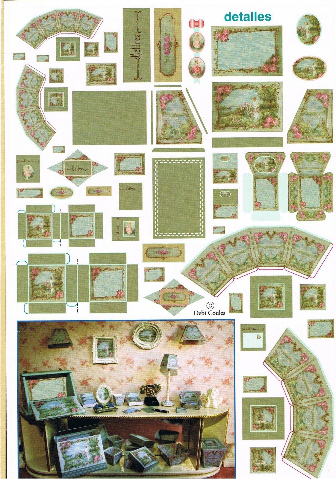 Miniature Printables - Dollhouse Accessories.   Doll House - Free Printable Dollhouse Furniture Patterns