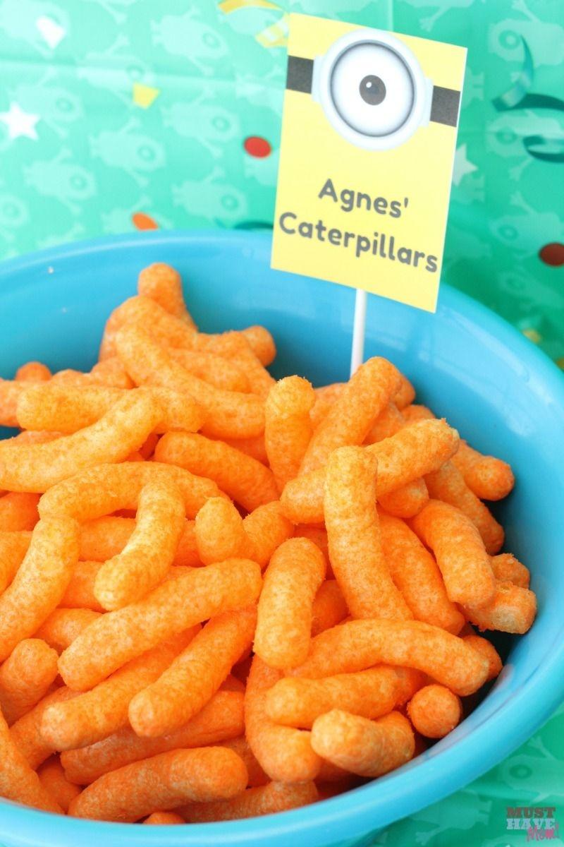 Minion Birthday Party Food Ideas & Free Printable Minions Food Signs - Free Printable Minion Food Labels