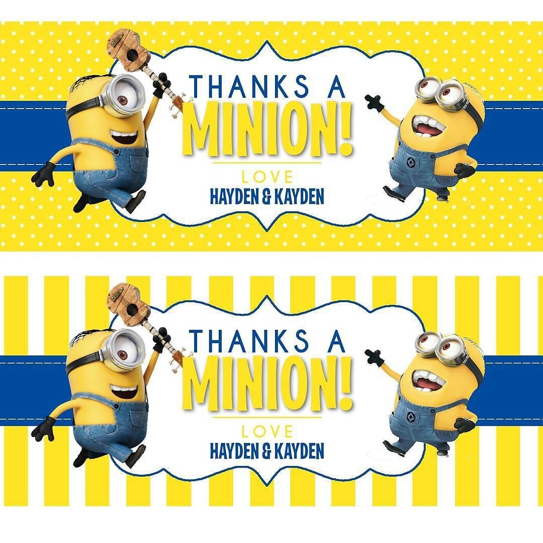 Minion Printables Round-Up | Coloring Pages - Minion | Minion Party - Free Printable Minion Food Labels