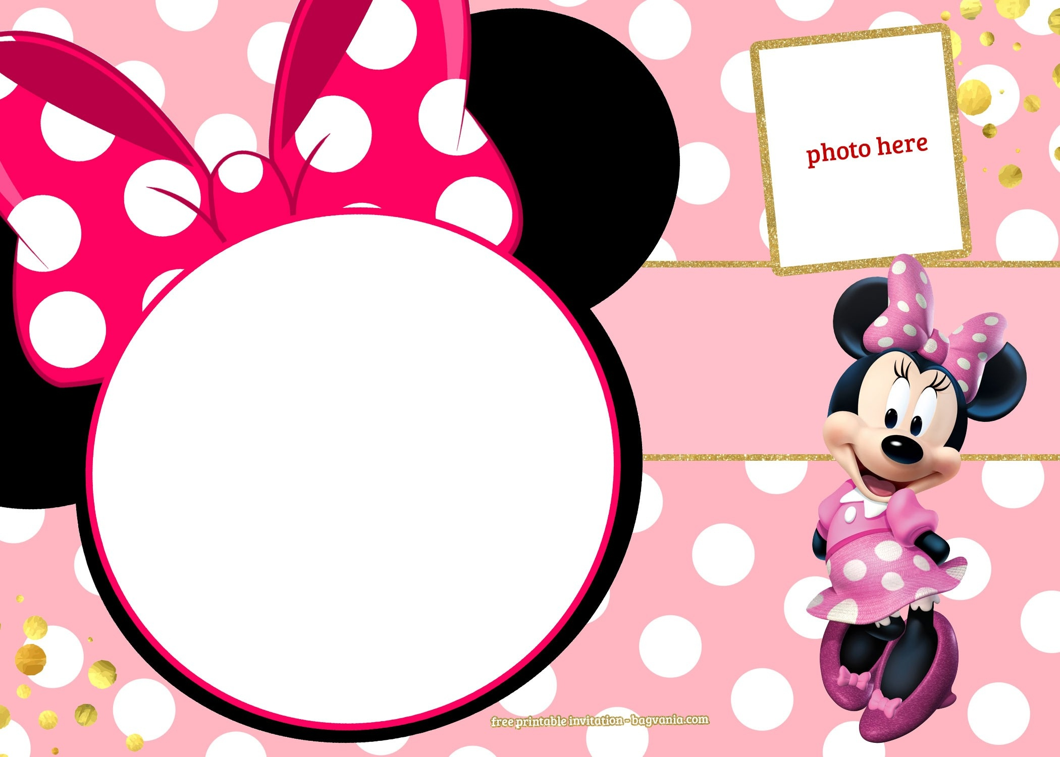 Minnie Mouse Template Invitations - Free Printable Minnie Mouse Invitations