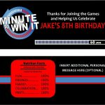 Minute To Win It Party Supplies, Printables, And Invitations!   Free Printable Minute To Win It Invitations