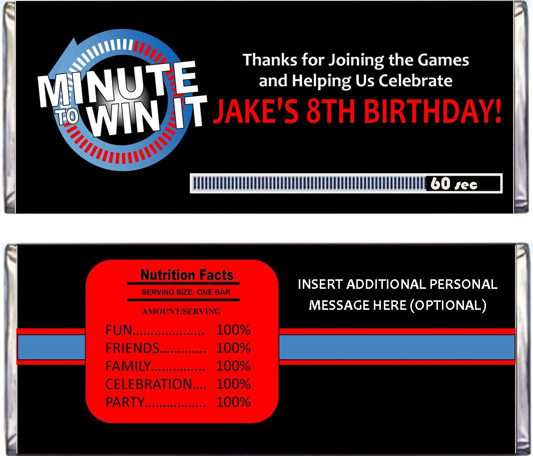 Minute To Win It Party Supplies, Printables, And Invitations! - Free Printable Minute To Win It Invitations