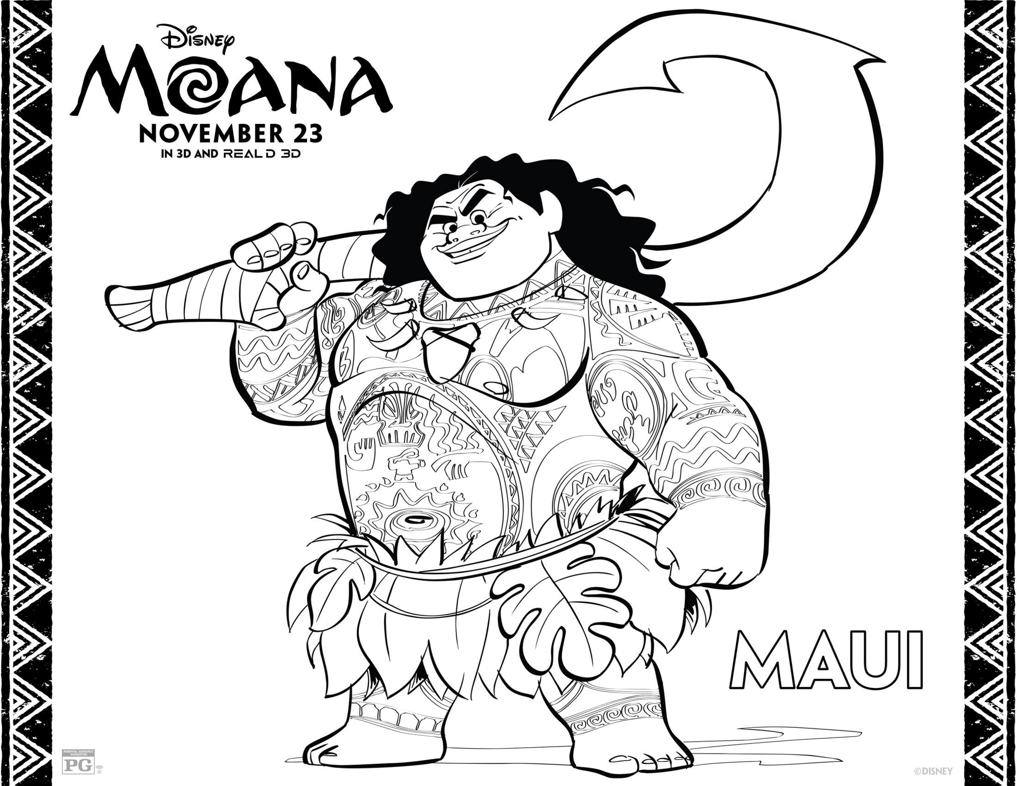 Moana Coloring Pages - Best Coloring Pages For Kids - Moana Coloring Pages Free Printable