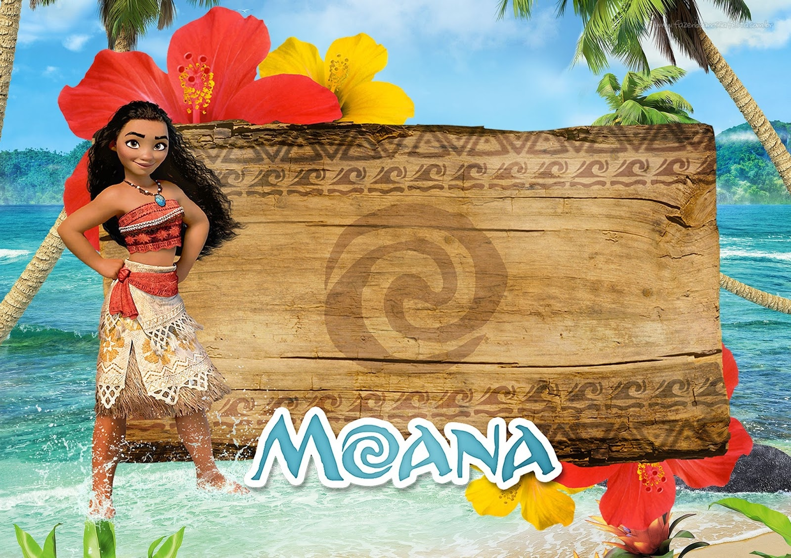 Moana: Free Printable Invitations. - Oh My Fiesta! In English - Free Moana Printable Invitations