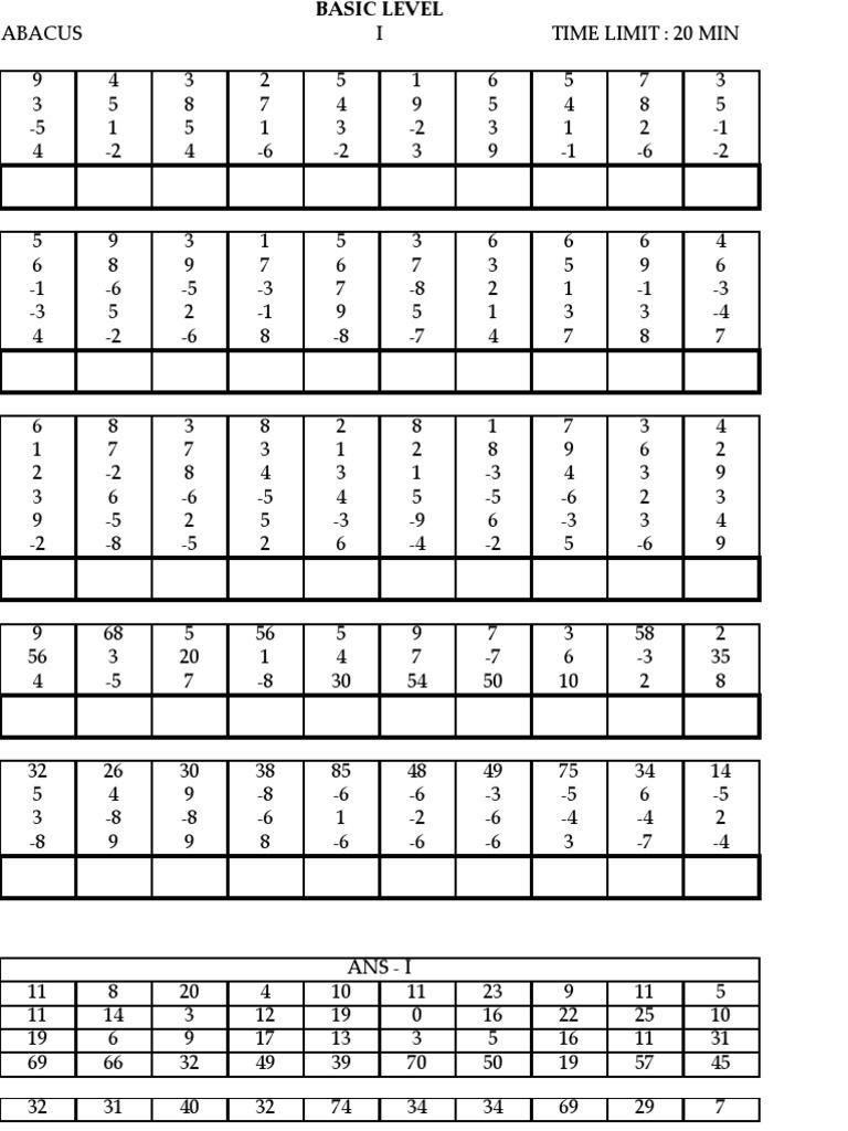 Model Paper   Educación Que Adoro   Math Sheets, Math Worksheets - Free Printable Abacus Worksheets