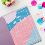 Modern Free Printable Save The Dates In A Blue And Pink Colour   Free Printable Save The Date