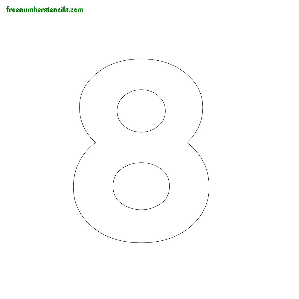 Modern Number Stencils Online Printable - Freenumberstencils - Online Letter Stencils Free Printable