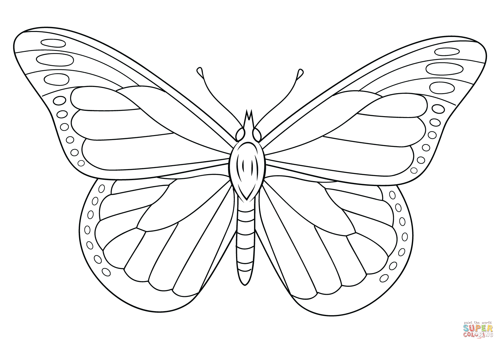 Monarch Butterfly Coloring Page | Free Printable Coloring Pages - Free Printable Butterfly