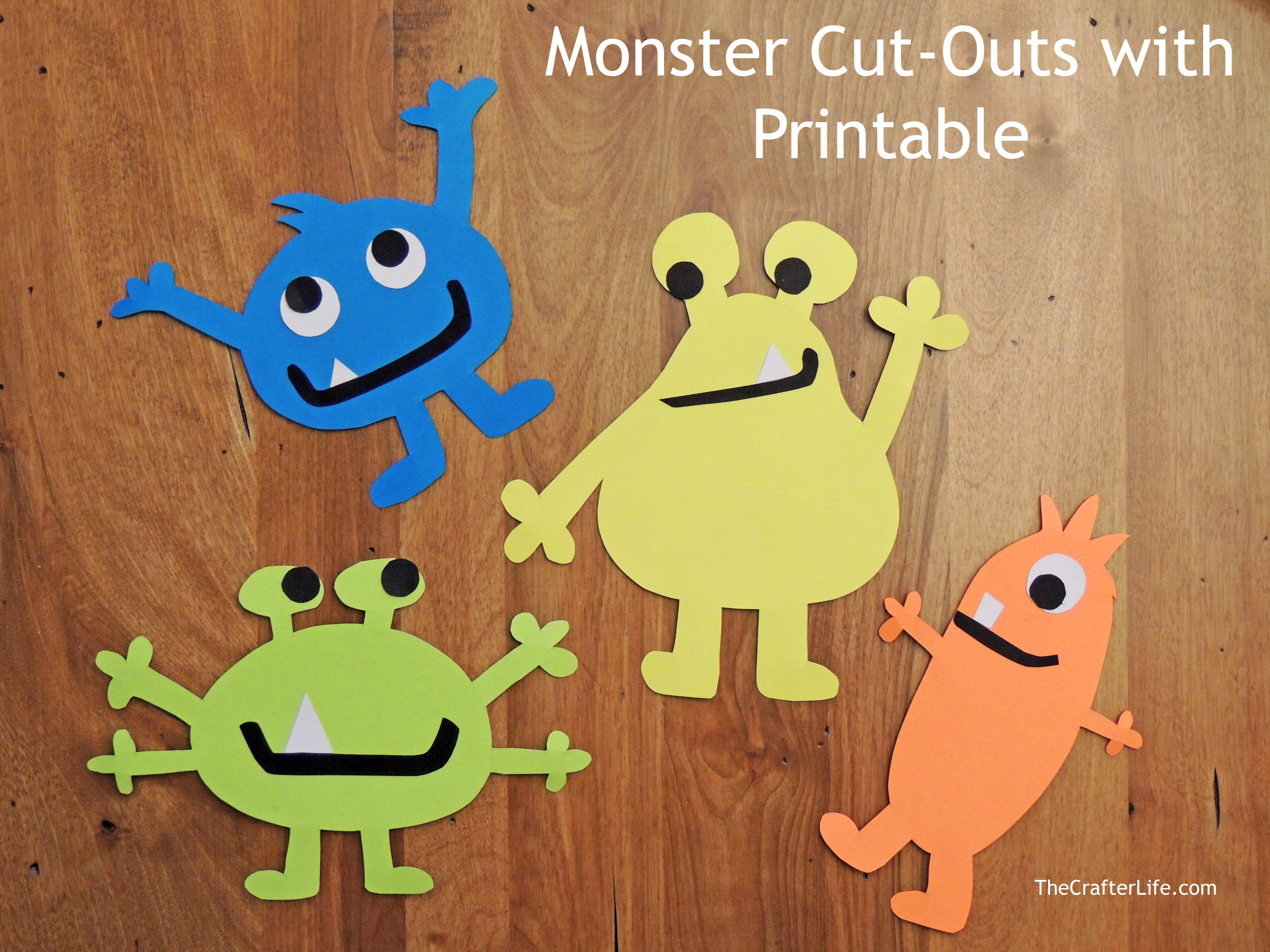 Monster Cut-Outs With Printable - The Crafter Life - Free Printable Monster Templates