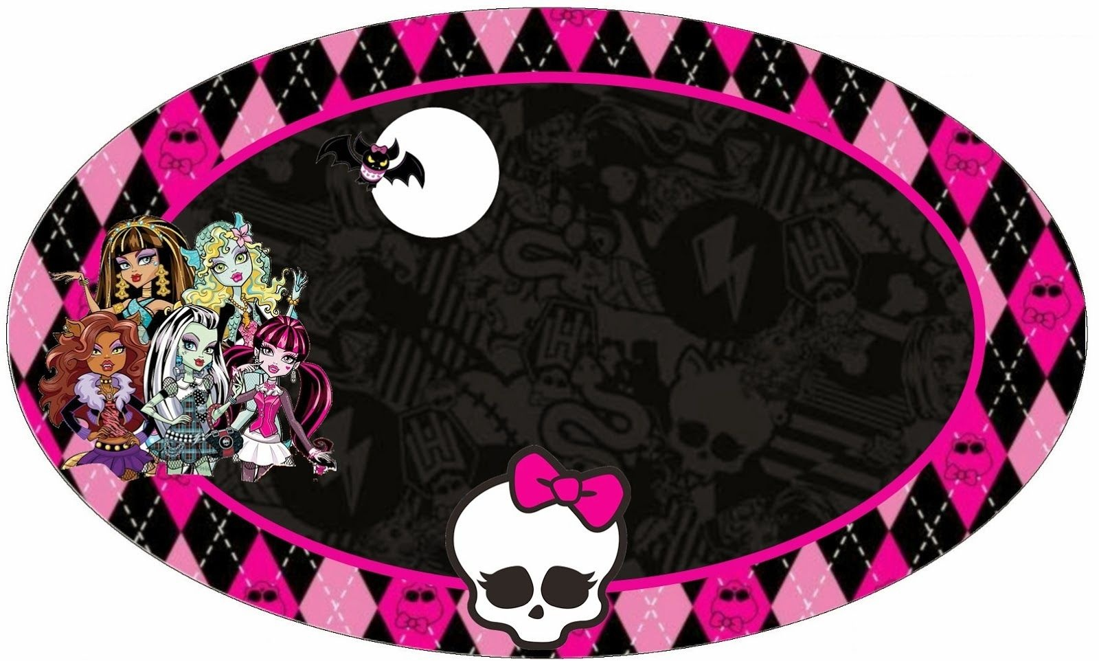 Monster High Printable Templates | Free Printable Toppers Stickers - Free Printable Monster High Stickers