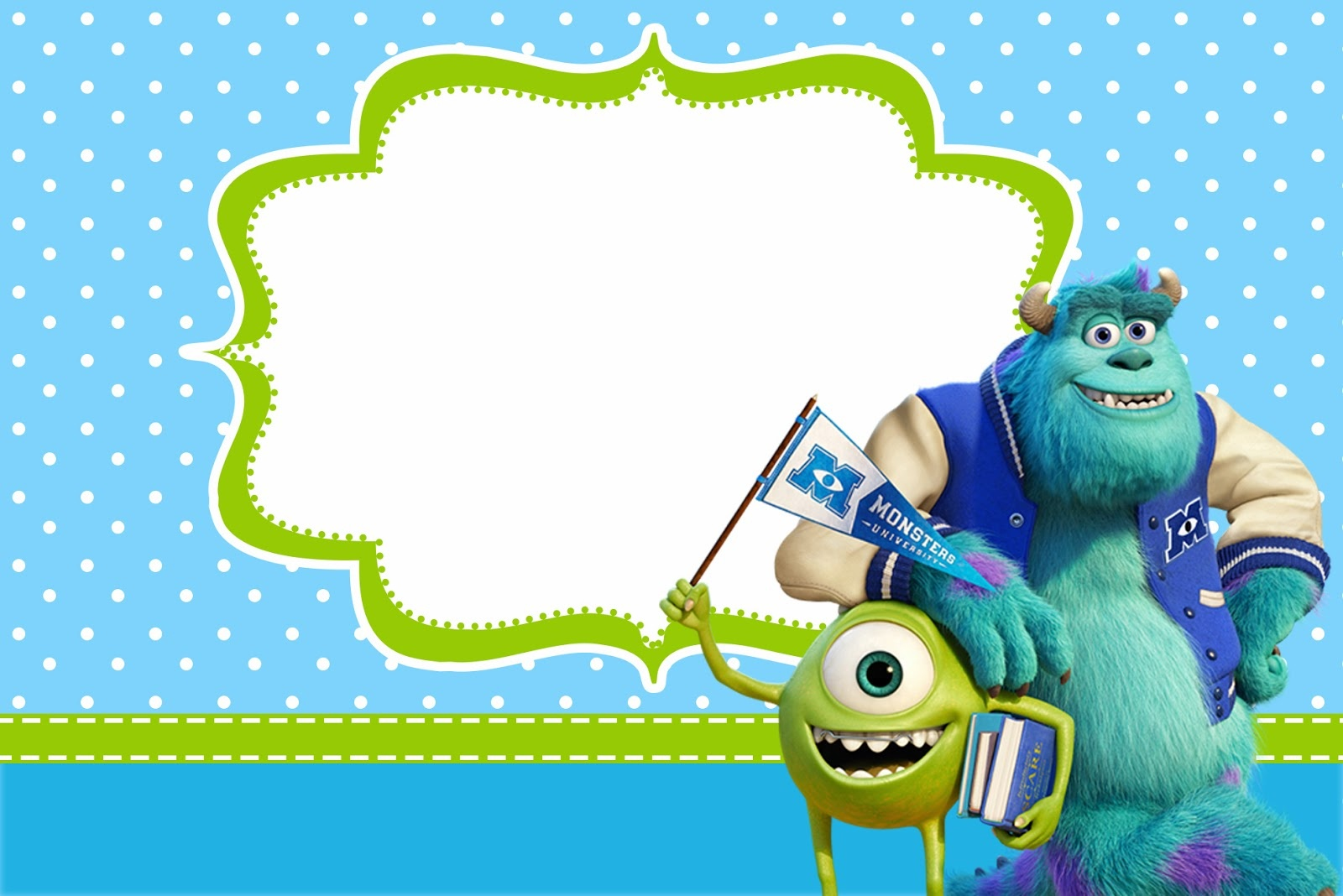 Monster University: Free Printable Party Invitations. - Oh My Fiesta - Free Printable Monsters Inc Birthday Invitations