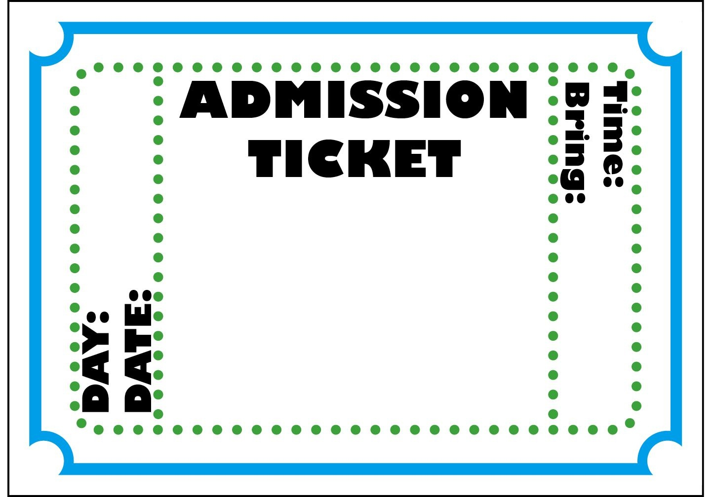 Mormon Share } Admission Ticket | Colossal Coaster World Vbs 2013 - Free Printable Admission Ticket Template