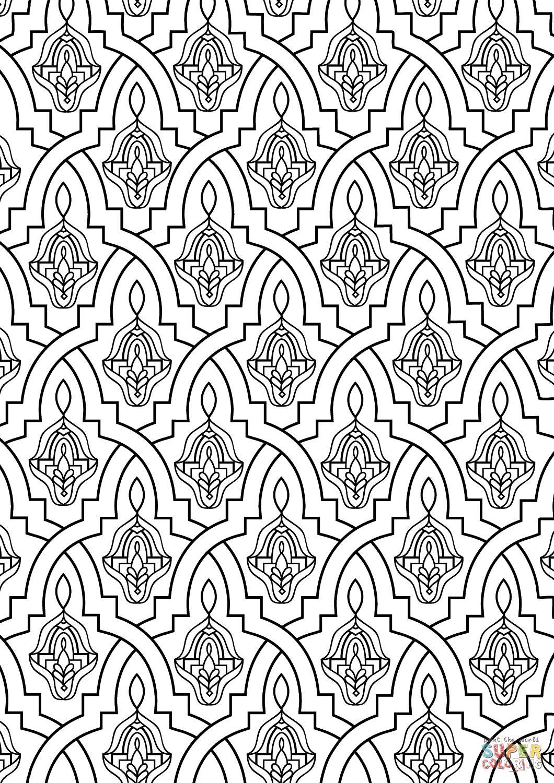 Moroccan Tile Coloring Page   Free Printable Coloring Pages - Free Printable Moroccan Pattern