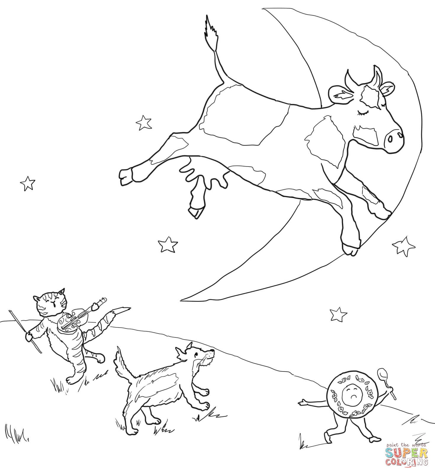 Mother Goose Nursery Rhymes Coloring Pages | Free Coloring Pages - Free Printable Nursery Rhyme Coloring Pages